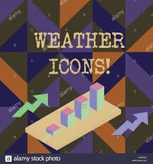 Bar Chart Of Weather Handwriting Text Writing Weather Icons Conceptual Photo