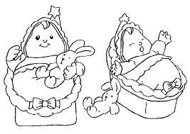 Kleurplaat Tweeling Baby