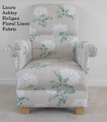 Laura Ashley Bedroom Laura Ashley Heligan Floral Linen Fabric Adult Chair Cream Nursery