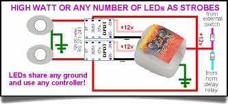 chet's wing lights 12v Strobe Light Wiring Diagram these strobes are seriously effective if you add the timed delay relay described below using the relays allows you to add just about as many led lights to 12v led strobe light circuit diagram