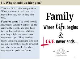 why should we hire you interview question 80 faculty interview questions with answers