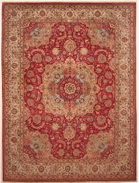 red fl design tabriz rug