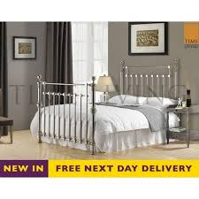 Time Living Exclusive Edward 5ft King Size Chrome Plated Metal Bed