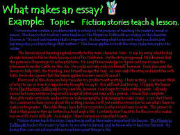 paragraph vs essay ppt video online  what makes an essay example topic fiction stories teach a lesson