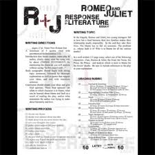 romeo and juliet essay prompts response to literature by created  romeo and juliet essay prompts response to literature