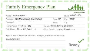 Identification Template Ms Excel Emergency Call List Template Sample Medical Card Awesome