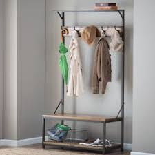 Entry Hall Bench And Coat Rack Welkom Hall Tree Bench with Coat Rack Crate and Barrel Tree 72