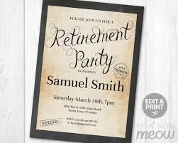 Retirement Invitations Free Retirement Invitation Retired Invite Instant Download Printable Chalk Board Paper Celebration Announcement Stamp Editable Personalize Print