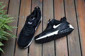 nike shoes air max black 90. 2015 newest nike air max 90 high tops running shoes for men black white suede 0