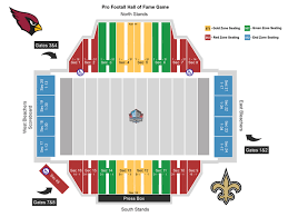 Nfl Hall Of Fame Game Seating Chart Pro Football Hall Of