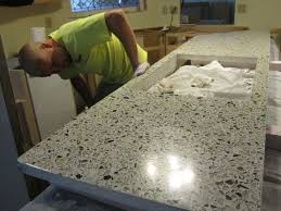 make your own recycled glass countertop gorgeous diy but time intensive