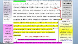 writing the five paragraph theme thesis statement