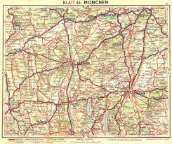 Details About Germany Munchen 1936 Old Vintage Map Plan Chart