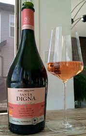 wine bottle and glass of rose