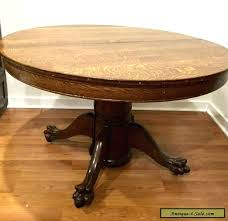 oak clawfoot table for antique claw foot table claw foot table antique large oak round