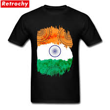 Indian Flag T Shirts Design Us 12 54 43 Off Tees Shirt Bespoke India Flag Mens New T Shirt Design Short Sleeve Crewneck Cotton Xxxl In T Shirts From Mens Clothing On