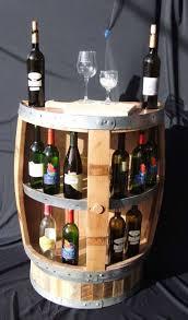 half-barrel Wine Display with Shelf on Barrel Base #DuVino #wine www.