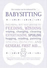 Image Result For Funny Babysitting Coupons From Grandparents