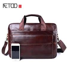 genuine leather briefcases bags laptop bag business handbags shoulder wo briefcase womens black backpack