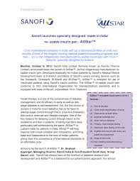 Not all of these pens may be marketed in each country. Https Www Sanofi In Media Project One Sanofi Web Websites Asia Pacific Sanofi In Home Media Press Release 2012 Sanofi Launches Specially Designed Made In India Re Usable Insulin Pen Allstar Pdf La En