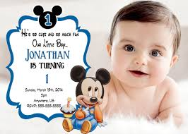 baby mickey mouse invitations birthday create mickey mouse 1st birthday invitations amazing invitations cards