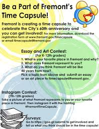time capsule essay calaméo time capsule essay what to write for time capsule city of fremont official websitecity of fremont time capsule essay and art contest form