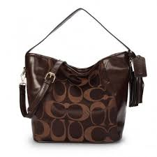 Coach Legacy In Signature Medium Coffee Shoulder Bags ANT