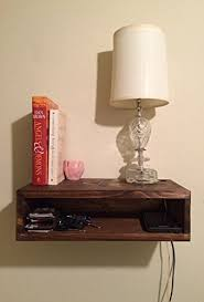 Floating bedside table, rustic nightstand, barn wood style bedside table,  wall shelf,