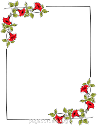 Small Picture Printable floral border Use the border in Microsoft Word or other