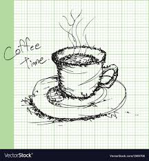 Graph Paper Draw Draw Sketches Of Coffee On Graph Paper Ector Vector Image