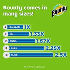 Bounty Roll Size Chart Bounty Select A Size Paper Towels White Giant Roll