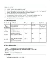 Sample Mba Resume Doc Best of Resume Format For Hr Fresher Joggnature