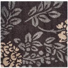 safavieh florida dark brown gray 7 ft x 7 ft square area