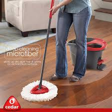 Best Mop For Kitchen Floor Amazoncom O Cedar Easywring Microfiber Spin Mop And Bucket Floor