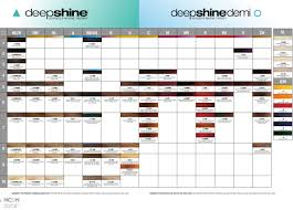 Rusk Toner Chart Rusk Deepshine Color Chart Sept 2014 In 2019 Hair Color