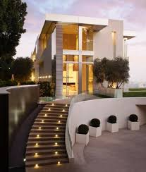 home lighting design ideas. exterior design with modern outdoor staircase and used lighting ideas home