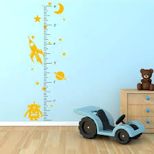 space robot growth chart wall decal girl the guru growth chart wall decal