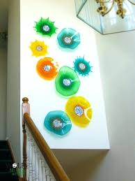 glass wall art residential blown glass wall art installation by wolf art glass stained glass wall glass wall art