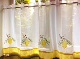 Yellow Gingham Kitchen Curtains Curtains Cafe Curtain Sunflowers Cafe Curtain Panel White Yellow