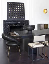 kelly wearstler furniture and home collection black dining roomsdining