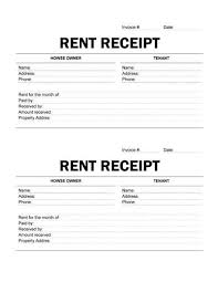 examples of rent receipts 9 best rent receipt template images on pinterest invoice