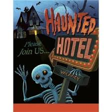 Amazon Com Haunted Hotel Party Invitations 8 Pack Home