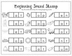 use sts and put in workstations for practice on initial and al sound kindergarten centers