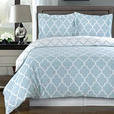 modern light blue and white cotton duvet comforter cover shams set geometric trellis bedding striped sheets