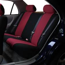 car seat covers for rear seat luxury sporty burdy red for car suv minivan 0