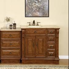 left sink vanity. Plain Vanity 58 Inch Traditional Single Bathroom Vanity With Travertine And 2 Doors 7  Drawers UVSR090458 Throughout Left Sink