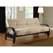 furniture white futon sleeper sofa with black metal frame base on laminate flooring inspiring design of full size sleeper for your living room decoration