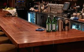 mesquite wood bar top with joint