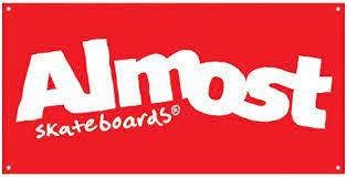 Amazon | Almost ロゴボックスバナー スケートボードアクセサリー One Size レッド 60223013-RED/WHT |  ステッカー・デカール | 車&バイク