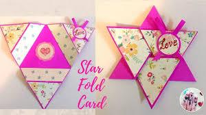 Star Fold Card How To Make Star Fold Card Scrapbook Card Ideas